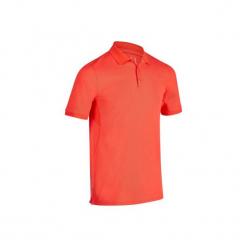 Koszulka polo do golfa 900 męska. Czerwone koszulki polo marki FOUGANZA, m, z bawełny. Za 79,99 zł.