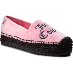 Espadryle JUICY COUTURE BLACK LABEL - Yolanda Velvet JB219 Pink Lemonade/Lava R. Czerwone espadryle damskie Juicy Couture Black Label, z materiału, na płaskiej podeszwie. W wyprzedaży za 379,00 zł.