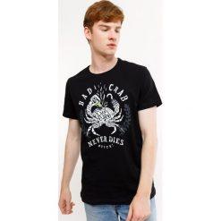 Męski T-shirt MF Bad Crab. Szare t-shirty męskie z nadrukiem Astratex, m, z bawełny. Za 49,99 zł.