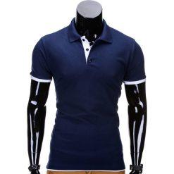 KOSZULKA MĘSKA POLO BEZ NADRUKU S758 - GRANATOWA. Niebieskie koszulki polo Ombre Clothing, m, z nadrukiem. Za 29,00 zł.
