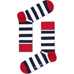 Happy Socks - Skarpety Stripe. Brązowe skarpetki męskie Happy Socks, z bawełny. W wyprzedaży za 27,90 zł.