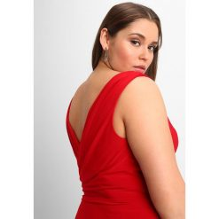 My Mascara Curves BEADED PLEAT GOWN Długa sukienka red. Czerwone długie sukienki marki Sisley, z krótkim rękawem. W wyprzedaży za 587,30 zł.