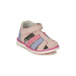 Sandały Dziecko  Citrouille et Compagnie  FRINOUI. Czerwone sandały dziewczęce marki Born2be, z materiału, z otwartym noskiem, na zamek. Za 179,00 zł.