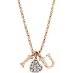 Naszyjniki damskie: Naszyjnik w kolorze różowego złota – (D)50 cm