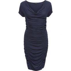 Sukienki: Sukienka z drapowaniem bonprix ciemnoniebieski