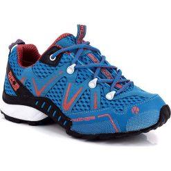 """Buty """"Trail"""" w kolorze niebieskim do biegania. Brązowe buty do biegania damskie marki Reebok, z materiału. W wyprzedaży za 301,95 zł."""