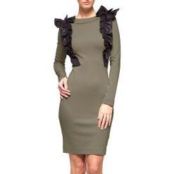 Sukienki hiszpanki: Sukienka w kolorze khaki