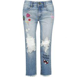 Fashion Victim Destroyed Patch Jeans Jeansy damskie niebieski. Niebieskie jeansy damskie z dziurami Fashion Victim. Za 79,90 zł.