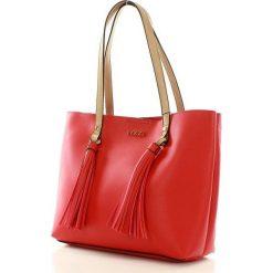 NOBO Miejski shopper bag czerwony. Brązowe shopper bag damskie marki Nobo, w paski, ze skóry ekologicznej. Za 219,00 zł.