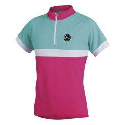 Etape Koszulka Rowerowa Bambino Pink/Aqua 152/158. Różowe t-shirty dziewczęce marki Etape. Za 79,00 zł.