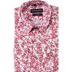 Koszula SIMONE slim KDWS000487. Czerwone koszule męskie na spinki Giacomo Conti, na lato, m, z bawełny, z klasycznym kołnierzykiem. Za 199,00 zł.