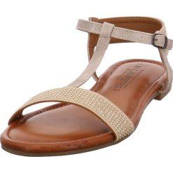 Rzymianki damskie: Sandały w kolorze beżowym