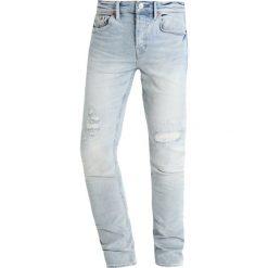 Jeansy męskie: AllSaints INE CIGARETTE Jeans Skinny Fit light indigo blue