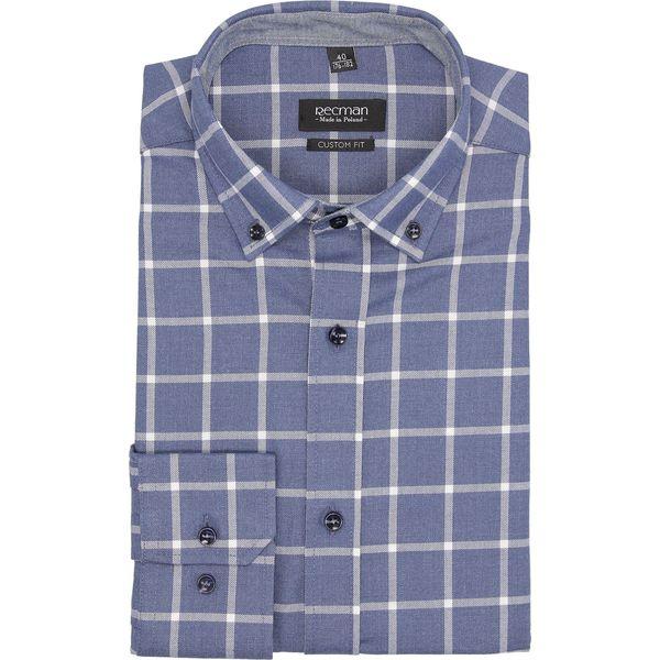 688ac5d83 koszula bexley f2692 długi rękaw custom fit niebieski - Niebieskie ...