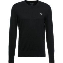 Swetry klasyczne męskie: Abercrombie & Fitch CORE ICON VNECK Sweter black