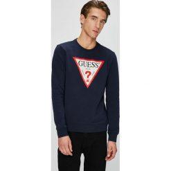 Guess Jeans - Bluza. Szare bluzy męskie rozpinane marki Guess Jeans, l, z aplikacjami, z bawełny. Za 349,90 zł.