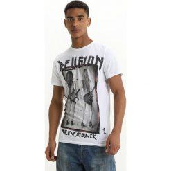 T-shirty męskie z nadrukiem: Religion ROCK STAR TEE Tshirt z nadrukiem white