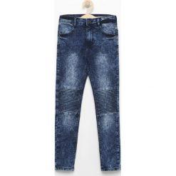Odzież chłopięca: Jeansy biker - Niebieski