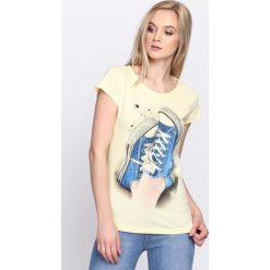 Bluzki, topy, tuniki: Żółty T-shirt Plimsoll