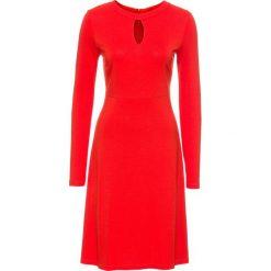 Sukienka bonprix czerwony. Czerwone sukienki dzianinowe bonprix. Za 54,99 zł.