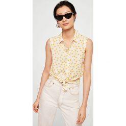 Mango - Koszula Paula2. Szare koszule wiązane damskie Mango, m, z krótkim rękawem. W wyprzedaży za 49,90 zł.