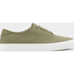 Buty męskie: Zielone bawełniane tenisówki
