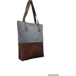 Shopper bag damskie: Torba na ramię, na codzień, eko skóra i filc