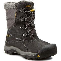 Buty zimowe chłopięce: Śniegowce KEEN – Basin Wp 1015014  Black/Gargoyle