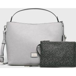 Liu Jo - Torebka. Szare torebki klasyczne damskie marki Liu Jo, w paski, z materiału, duże. Za 649,90 zł.