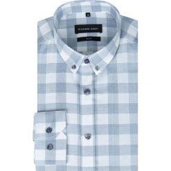 Koszula SIMONE KDWS000274. Szare koszule męskie slim Giacomo Conti, m, z bawełny, button down. Za 229,00 zł.