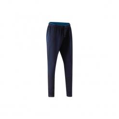Spodnie treningowe do piłki nożnej TP500 damskie. Niebieskie bryczesy damskie KIPSTA, l, z elastanu, na fitness i siłownię. Za 59,99 zł.