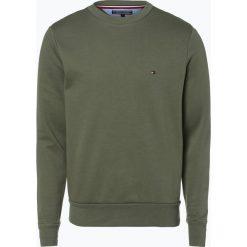 Tommy Hilfiger - Męska bluza nierozpinana, zielony. Zielone bluzy męskie TOMMY HILFIGER, m, z napisami. Za 199,95 zł.