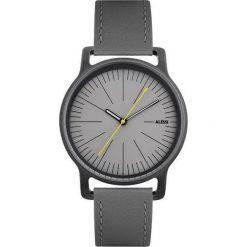 Zegarki męskie: Zegarek l'orologio męski na skórzanym pasku szary