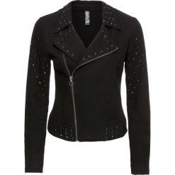 Bluza rozpinana biker bonprix czarny. Czarne bluzy rozpinane damskie bonprix. Za 149,99 zł.