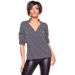 """Bluzki asymetryczne: Koszulka """"Grace"""" w kolorze czarno-białym"""