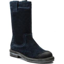 Buty zimowe damskie: Kozaki NESSI - 11926/N Granat W1