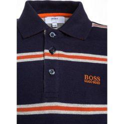 Bluzki dziewczęce bawełniane: BOSS Kidswear LANGARM Koszulka polo marine/orange
