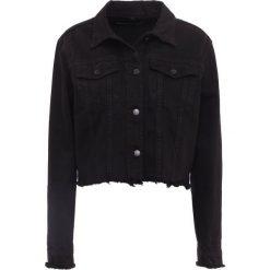J Brand FRAY Kurtka jeansowa black. Szare kurtki damskie jeansowe marki J Brand. W wyprzedaży za 679,60 zł.