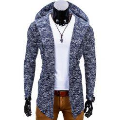 Bluzy męskie: BLUZA MĘSKA Z KAPTUREM NARZUTKA B669 - GRANATOWA