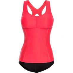 Bikini: Tankini (2 części) bonprix różowy-czarny