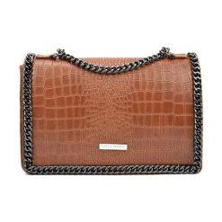 Torebki klasyczne damskie: Skórzana torebka w kolorze jasnobrązowym – (S)20 x (W)30 x (G)8 cm