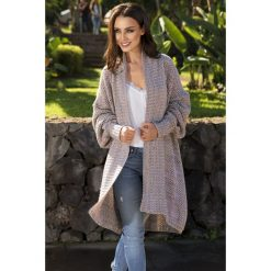 Kolorowy sweter oversize  SARAH. Szare swetry oversize damskie Lemoniade, ze splotem. Za 149,90 zł.