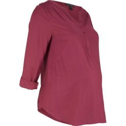 Bluzka ciążowa i do karmienia bonprix czerwony rododendron. Fioletowe bluzki ciążowe marki bonprix, z wiskozy, z kopertowym dekoltem. Za 89,99 zł.