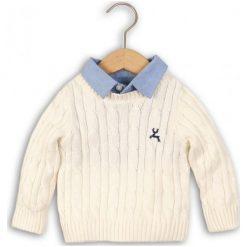 Odzież chłopięca: Minoti Chłopięcy Sweter Z Koszulą 110/116 Beżowy