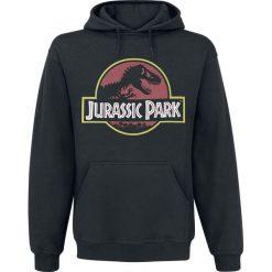 Jurassic Park Logo Bluza z kapturem czarny. Czarne bejsbolówki męskie Jurassic Park, l, z nadrukiem, z kapturem. Za 144,90 zł.