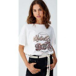 T-shirty damskie: Koszulka z nadrukiem motoru