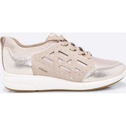 Geox - Buty. Szare buty sportowe damskie marki Geox, z materiału. W wyprzedaży za 329,90 zł.