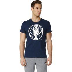 Adidas Koszulka męska Euro Logo granatowy r. L (AI5605). Niebieskie koszulki sportowe męskie Adidas, l. Za 69,17 zł.