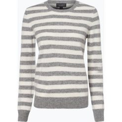 Franco Callegari - Sweter damski z czystego kaszmiru, szary. Zielone swetry klasyczne damskie marki Franco Callegari, z napisami. Za 499,95 zł.
