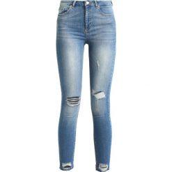 Miss Selfridge BUSTED HEM LIZZIE Jeans Skinny Fit blue. Niebieskie boyfriendy damskie Miss Selfridge. Za 209,00 zł.